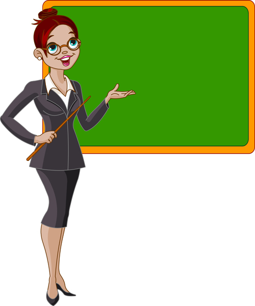 Elements of teacher vector set 05 vector people free download