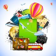 Link toCreative travel elements vector art 03