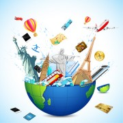 Link toCreative travel elements vector art 04