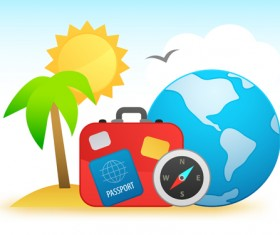 Travel design elements vector art 01