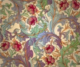 Set of ornate Floral Patterns vector 01