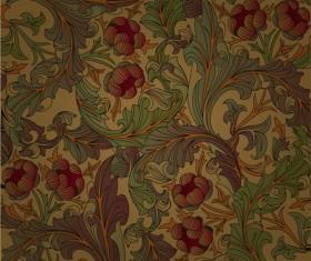 Set of ornate Floral Patterns vector 03