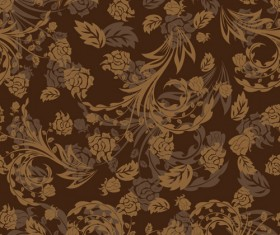 Set of ornate Floral Patterns vector 02