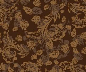 Set of ornate Floral Patterns vector 02