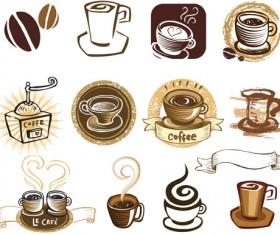 Vintage of Retro Coffee Labels vector