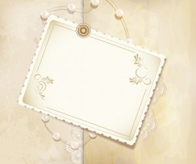 Set of Vintage photo Frames vector 02