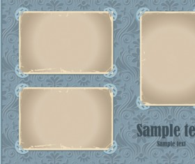 Set of Vintage photo Frames vector 05