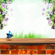 Link toWindowsill with flower vector 04