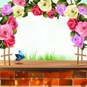 Link toWindowsill with flower vector 05