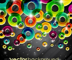 Set of abstract colorful background vector 02