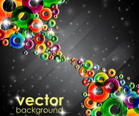 Set of abstract colorful background vector 03