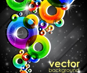 Set of abstract colorful background vector 04