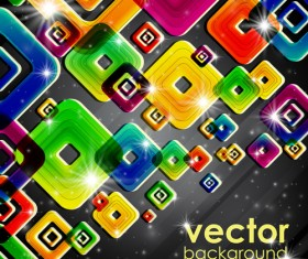 Set of abstract colorful background vector 05
