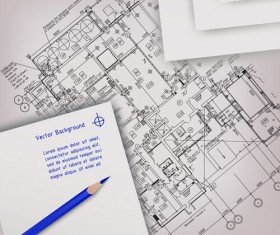 Architectural drawing design elements vector 02