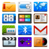 Vivid multimedia icon set