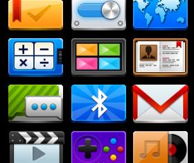 Vivid multimedia icon set