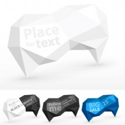 Link toCube origami speech bubbles vector 02