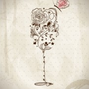 Link toHand drawn retro flower decoration background vector 03