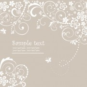 Link toHand drawn retro flower decoration background vector 05