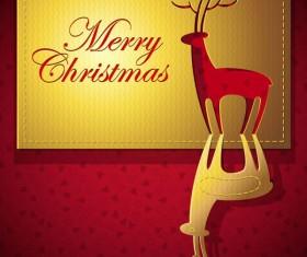 Merry Christmas design elements vector 02