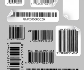 Various types of barcodes vector set 02 free download