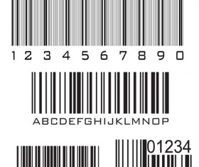 Various types of barcodes vector set 02
