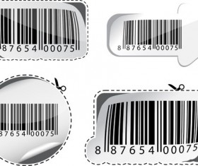 Various types of barcodes vector set 03