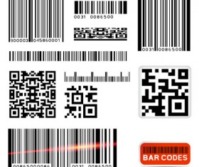 Various types of barcodes vector set 05