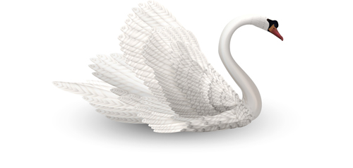 Vivid swans elements vector 03