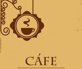 Vector of Vintage cafe menu background art 01