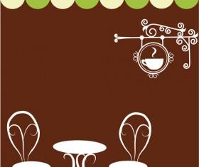 Vector of Vintage cafe menu background art 02