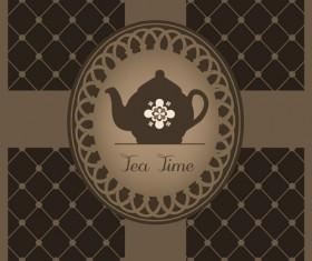 Vector of Vintage cafe menu background art 03