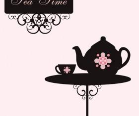 Vector of Vintage cafe menu background art 04