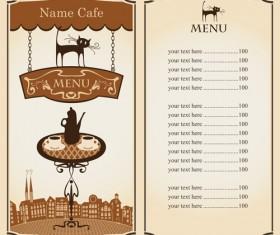 Vector of Vintage cafe menu background art 05