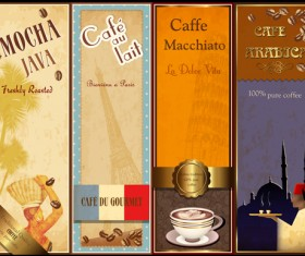 coffee cards design elements vector 03
