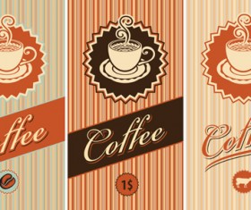 coffee cards design elements vector 04