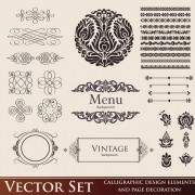 Link toVintage calligraphic and decoration borders vector 01