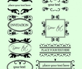 Vintage Calligraphic and decoration Borders vector 03