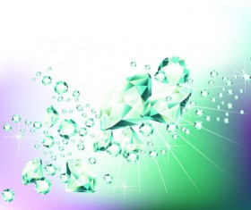 Elements of Background with diamond vector 01