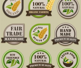 eco and food label vector art