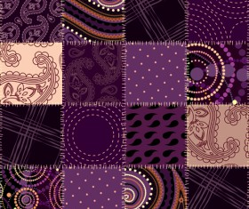 Set of Different Fabric patterns vector 01