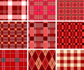 Set of Different Fabric patterns vector 03
