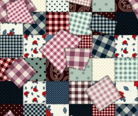 Set of Different Fabric patterns vector 04