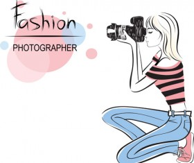Set of Fashion Beautiful Girls vector 01