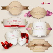 Link toSet of cute gift cards vector 03