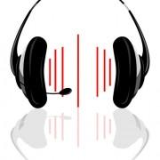 Set of headphone elements vector 01