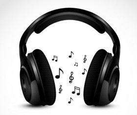Set of Headphone elements vector 02