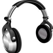 Set of headphone elements vector 03