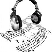 Set of headphone elements vector 05