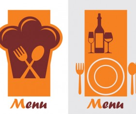 Elements of commonly Restaurant Menu cover vector 04